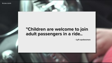 Austin rideshare drivers ask parents not to order rides for minors