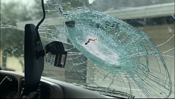 Austin woman's windshield smashed by piece of concrete on U.S. 183 and Payton Gin Road