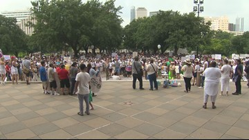 RAW: Group rallies ar Texas Capitol against migrant detention centers