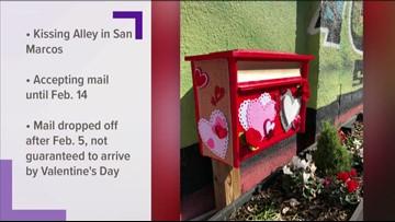 San Marcos unveils Valentine mailbox