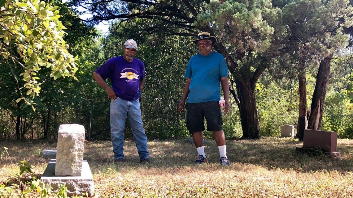 Volunteers working to preserve historic African-American cemetery