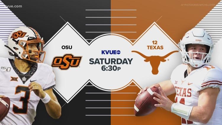 Texas Longhorns face Oklahoma State Cowboys Sept. 21 on KVUE