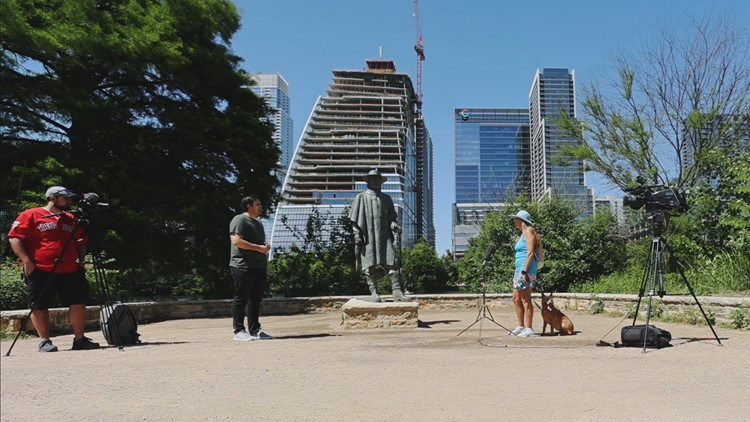 Austinites share their good news by the hike-and-bike trail