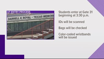 UT issues new student entry protocols for football games
