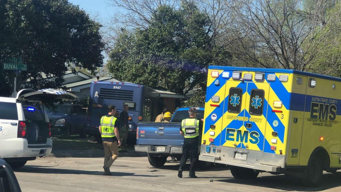 Video shows CapMetro bus crash into North Austin home after