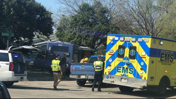 Bus crashes into house in North Austin