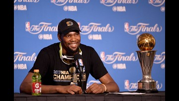 Kevin Durant's injury not as serious as anticipated