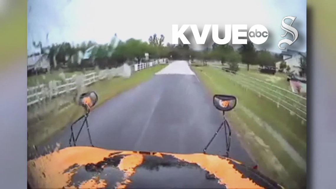 VIDEO: Dashcam footage shows Leander bus hitting ...