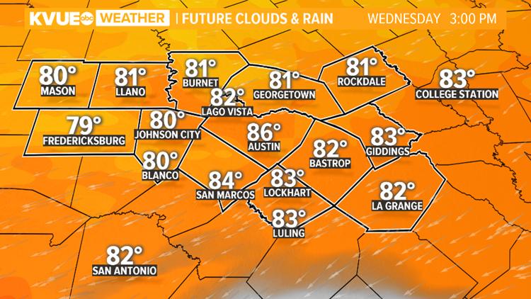 3:00 PM Wednesday Future Clouds & Rain