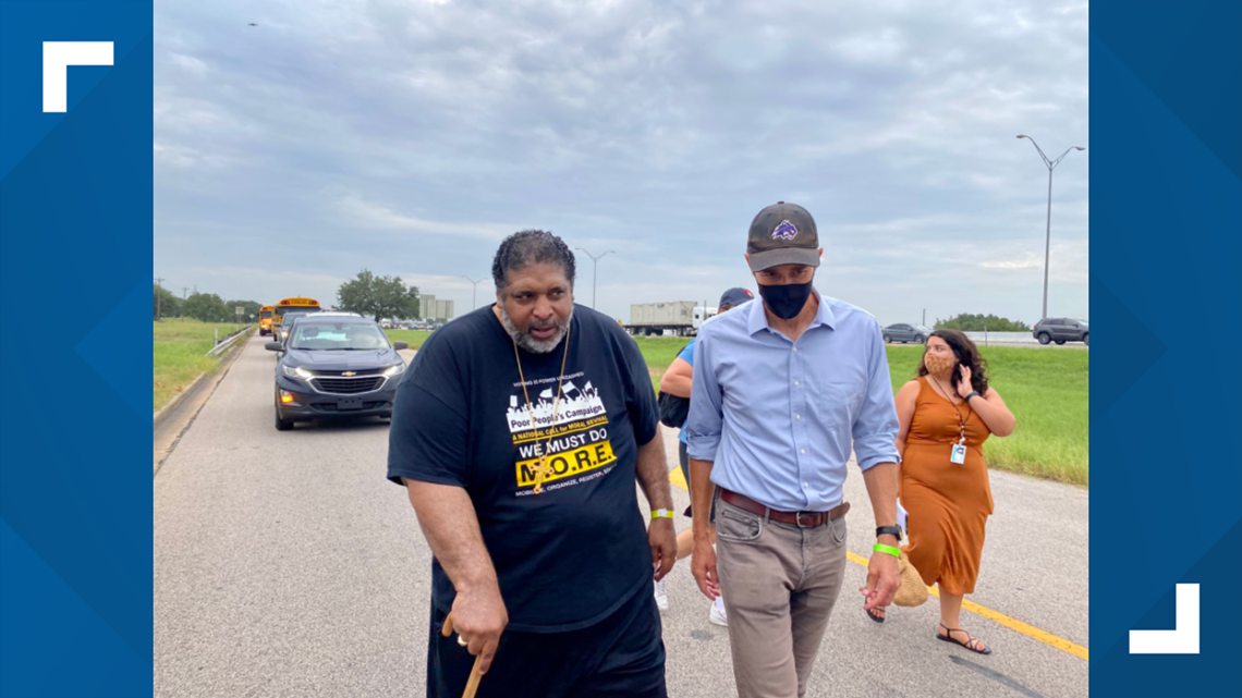 Watch: Activists, including Beto O'Rourke start march from Georgetown to Austin for voting rights