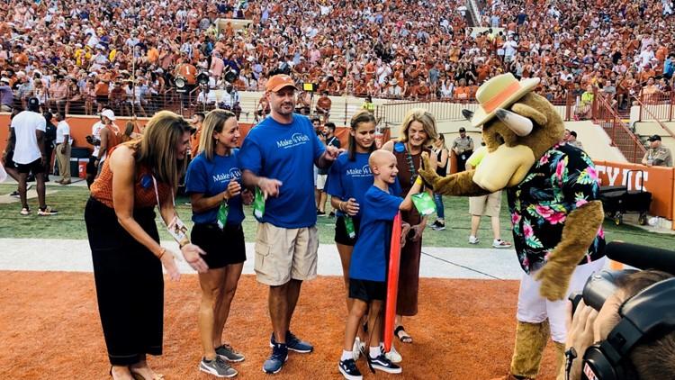 St. David's grants wish of Make-A-Wish recipient at UT vs. LSU game