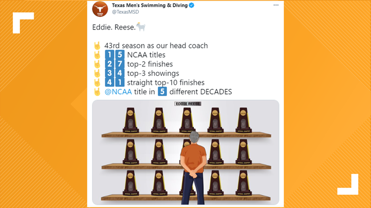 UT men's swimming and diving team wins 2021 NCAA Championship