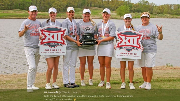 UT women's golf team wins 2019 Big 12 Championship