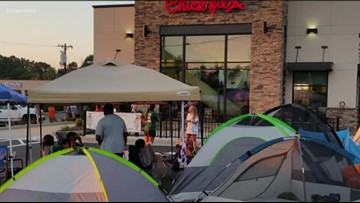 Chick-fil-a fans to camp out at first Buda location for chance to win free food for a year