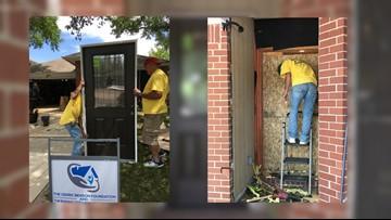 Volunteers help bombing victim's family rebuild