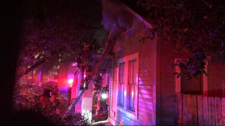 Austin Fire Department battled a house fire in Downtown Austin early Sunday morning.