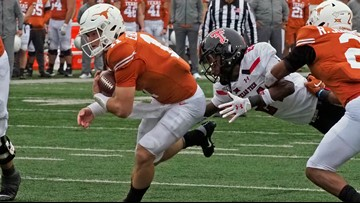 Ehlinger and Texas rally to 49-24 win over Texas Tech