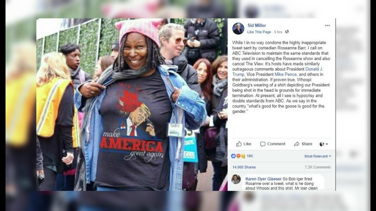 Whoopi Goldberg shirt of Donald Trump is doctored