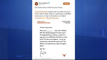 Here's your excuse letter to watch Texas baseball's big game Monday
