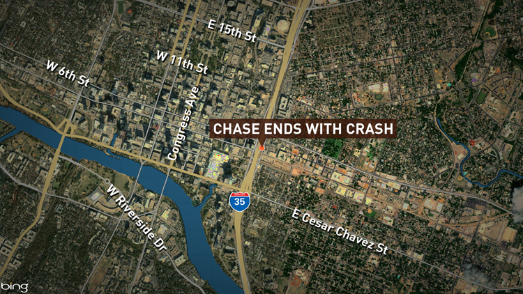 Austin Police said several people were taken into custody Saturday afternoon after a police chase ended with a crash.