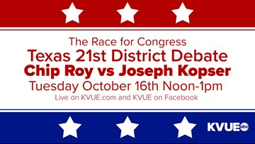 No remaining general admission tickets for debate in U.S. House District 21 race