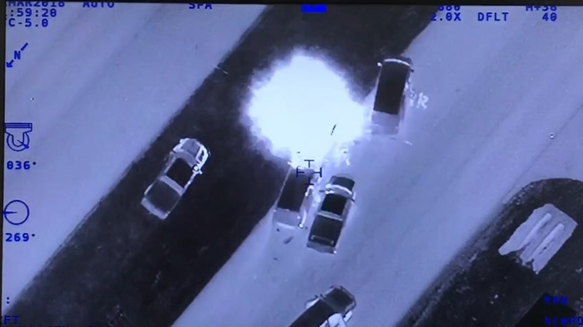 APD releases its own helicopter video showing the takedown of the Austin bomber