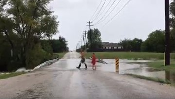 As flood waters shut down roads, increase in traffic draws concerns for Kyle neighborhood