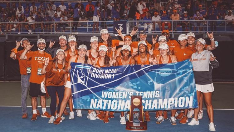 UT women's tennis wins 2021 NCAA national championship, the team's first since 1995