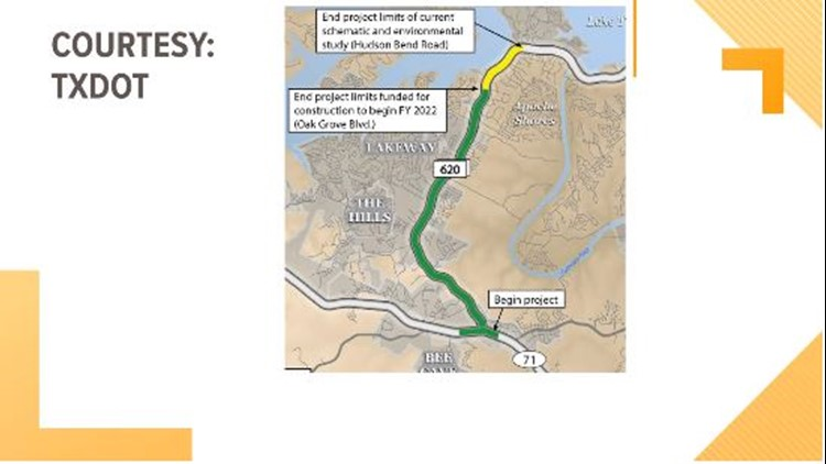 TxDOT to unveil plans to improve traffic along RM 620 at Bee Cave