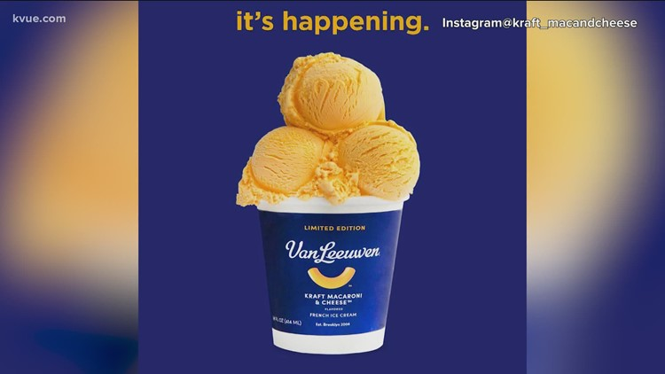 Kraft releases limited-edition Mac-n-Cheese ice cream