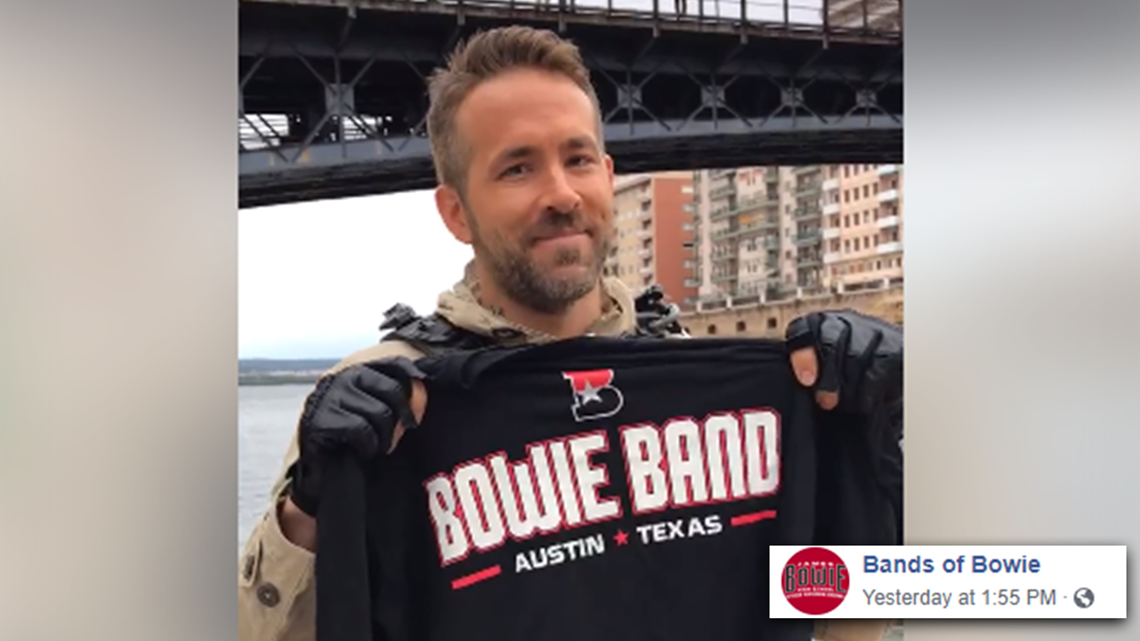Ryan Reynolds gives shoutout to South Austin high school band