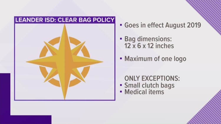 Leander ISD enacts clear bag policy at varsity football games