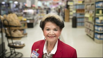 Austinite Ophie Garcia, 81, has been working at H-E-B for more than 53 years