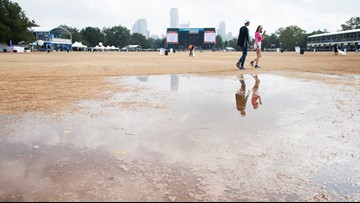 Overnight downpours turn ACL grounds into a muddy mess