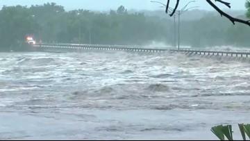 PHOTOS: Llano River floods 2900 bridge in Kingsland   kvue com