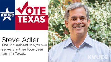 Incumbent Steve Adler claims victory as Austin Mayor against six challengers