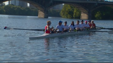 Daybreak Adventures: Rowing the KVUE boat on Lady Bird Lake in Austin