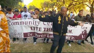 Austinites march in honor of Martin Luther King Jr. on MLK Day