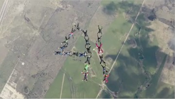Skydive Spaceland shares tribute in the sky to Bush 41