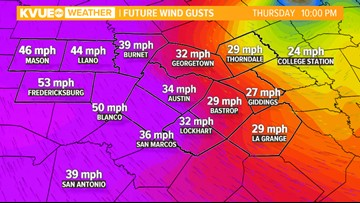 Wintry mix and high winds possible Thursday in Hill Country