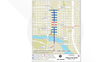 Veterans Day 2019 Parade: Road closures in Downtown Austin