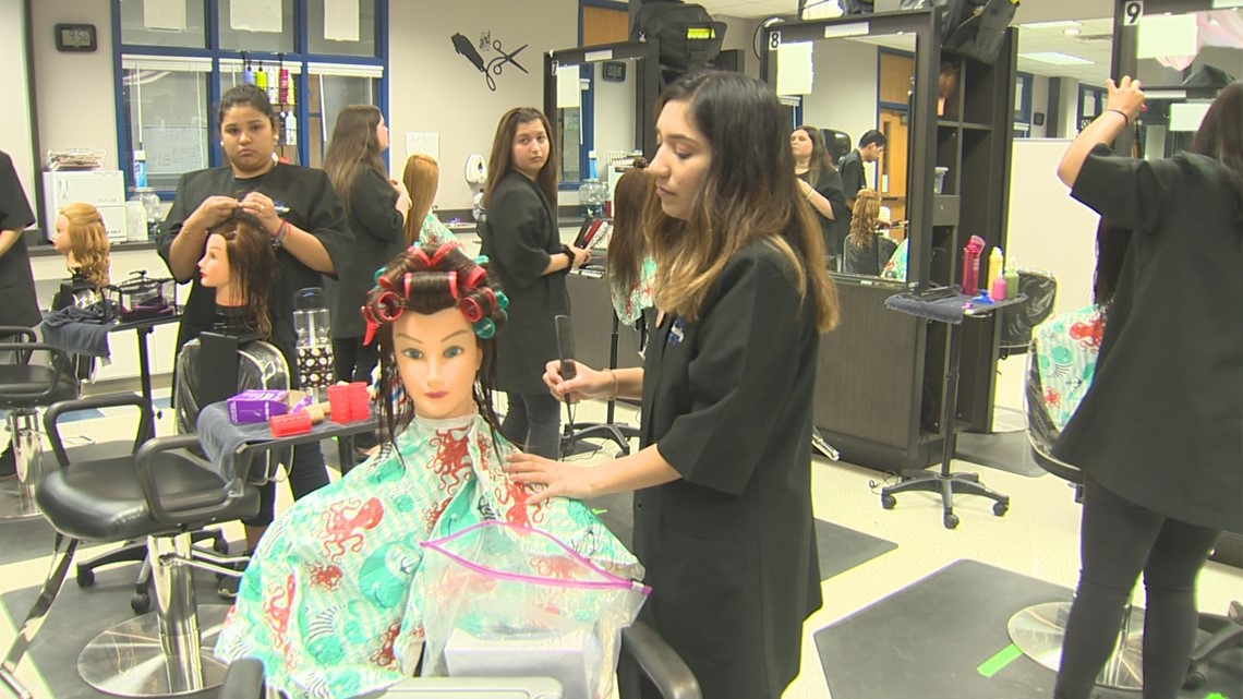 38a432b04df4 Cosmetology program at Hays HS is a cut above the rest