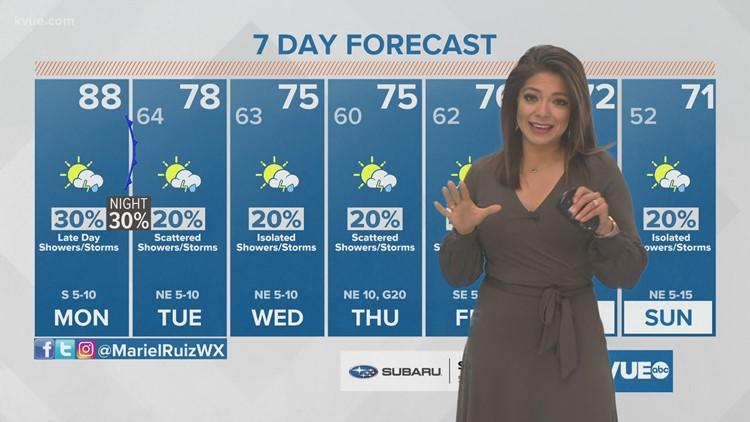 Austin-area weather: April 12 morning forecast with Meteorologist Mariel Ruiz
