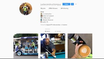 Do it for the 'gram | Austin construction worker goes viral after making 'influencer' Instagram