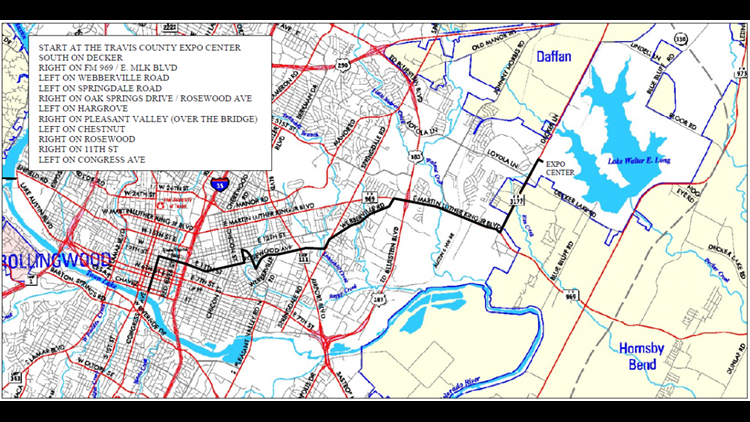 ROT Rally parade route