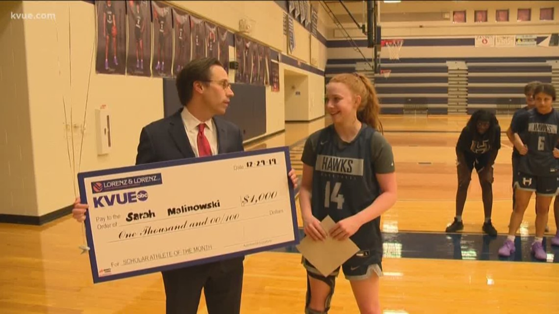 KVUE Scholar Athlete of the Month: December 2019