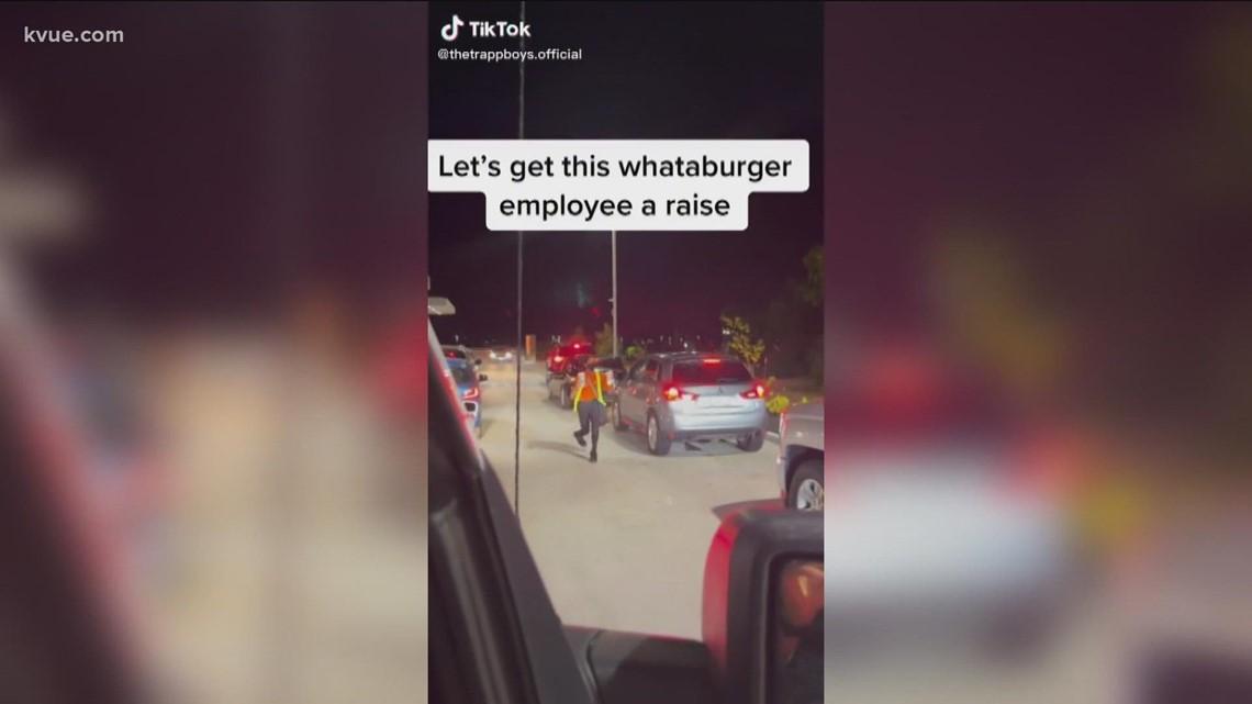 Leander man raising money for high schooler and Whataburger employee through TikTok