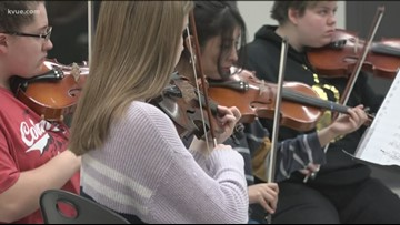 Georgetown orchestra students featured in Chick-fil-A ad