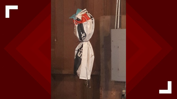 Hanging bag from Austin ISD case