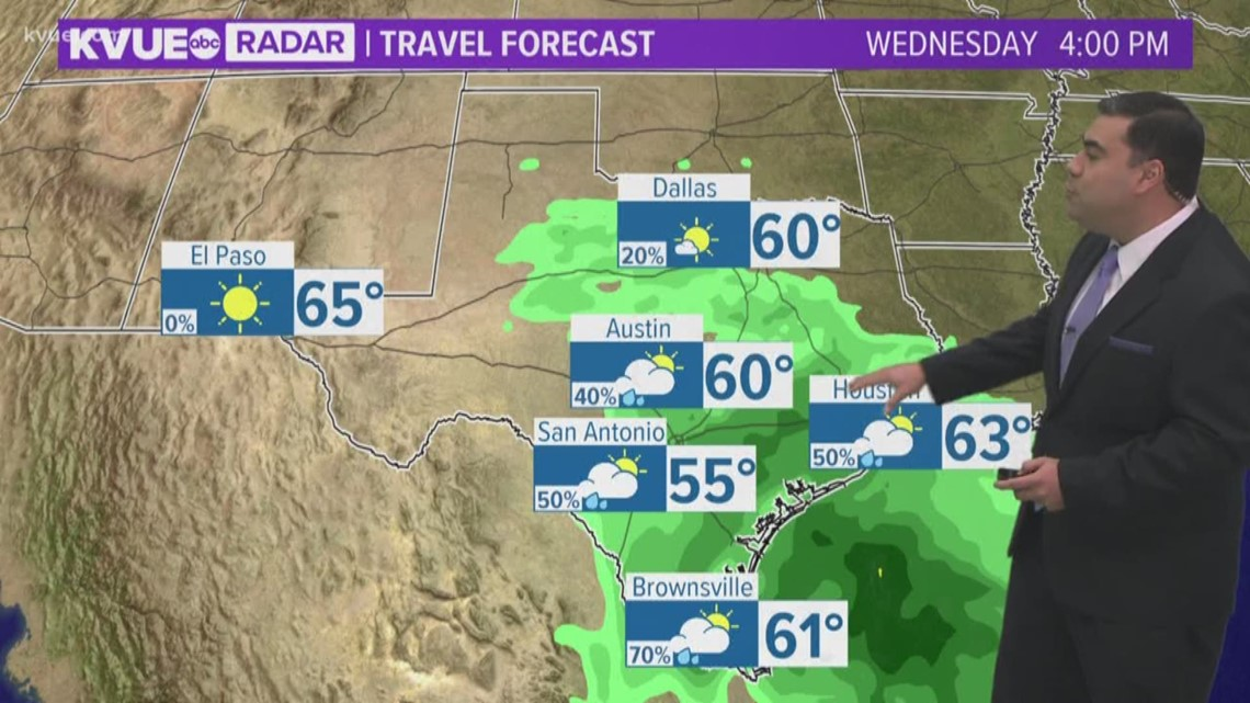 FORECAST: Patchy rain possible Wednesday afternoon